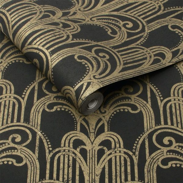 KeyVision Interiors Gold Wallpaper